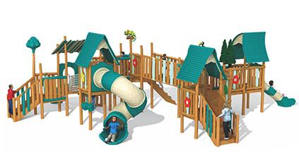 木質滑梯QLD165