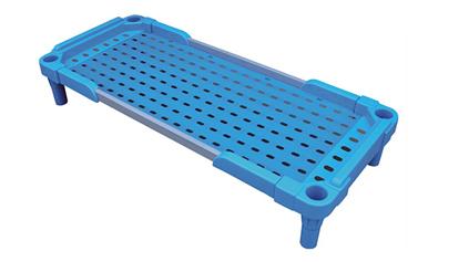 塑料带扶手儿童床QLD586