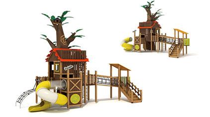 木质滑梯QLD187