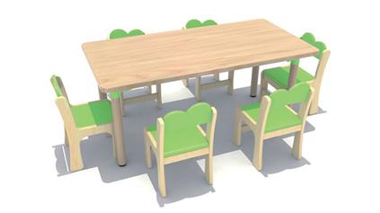 原木多层板长方桌QLD434