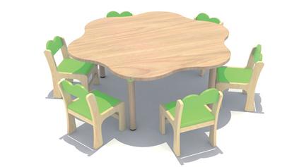 原木多层板造型桌QLD438