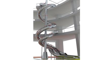 不锈钢滑梯QLD1103