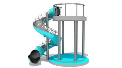 不锈钢滑梯QLD1102