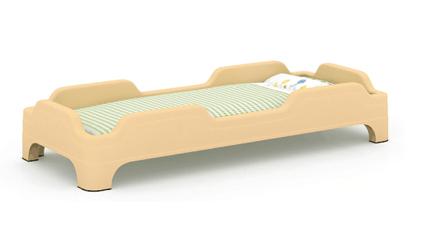 原木塑料儿童床