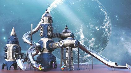 太空星球滑梯QLD1207
