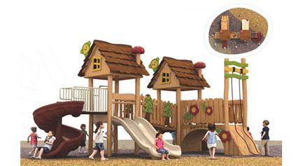 木质滑梯QLD172