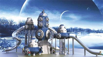 太空星球滑梯QLD1206