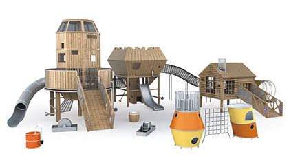木质滑梯QLD3001