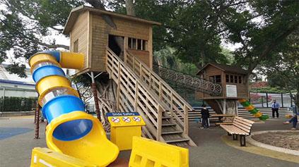 木质滑梯QLD3003