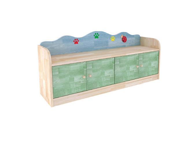 幼儿园木质鞋柜